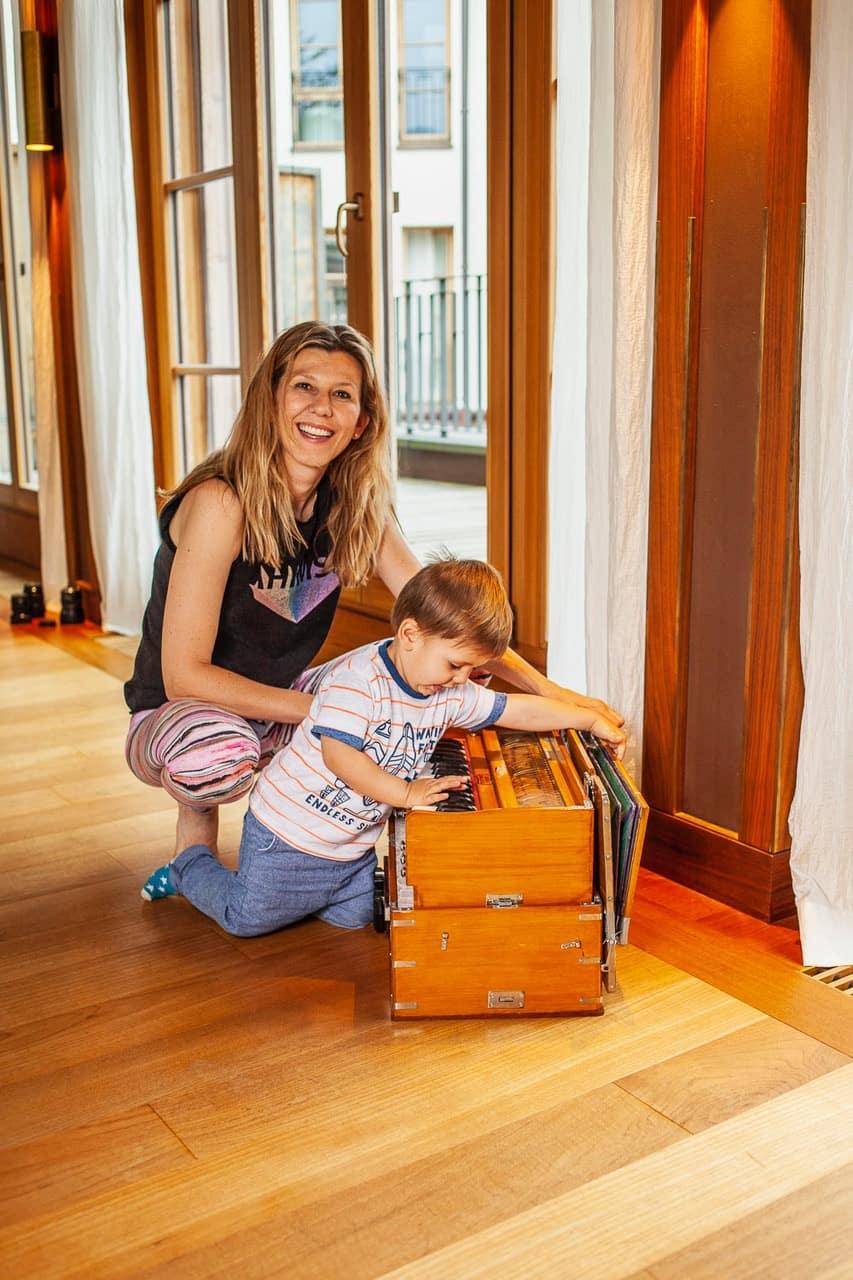 Gabriela Bozic mit ihrem Sohn